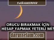 Ramazân ve Şevval İçin Hilali Görmek veya Hesap Yapmak