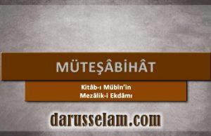 Kitabı Mübinin Mezaliki Ekdami Müteşabihat