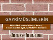 Gayrimuslimler Camilere Girebilir mi?