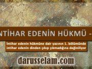 İslamda İntihar Edenin Durumu