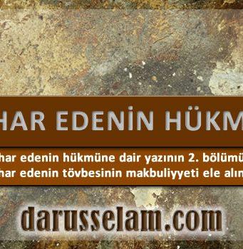 İslamda İntihar Edenin Hükmü 2. Bölüm
