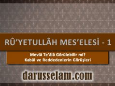 Ruyetullah Meselesi