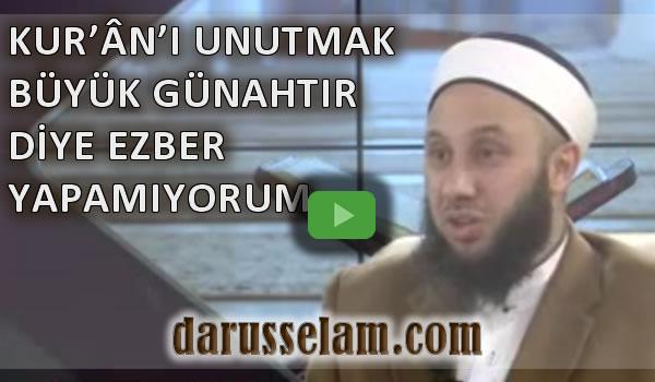 Kur'ân'ı Unutmanın Büyük Günahlardan Olması Ezbere Mani midir?