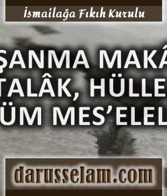 İslamda Boşanma Makalesi, Talak, Hülle Konuları