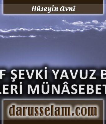 Yusuf Şevki Yavuz'a Reddiye